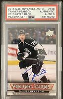 2015 BUYBACKS Tanner Pearson PSA DNA 9 AUTO #54/70 YOUNG GUNS RC DNA ROOKIE 2013