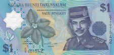 AU 1996 Brunei 1 Ringgit Polymer Note, Pick 22a