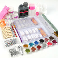 Pro Acrylic Powder Nail Set with Nail Drill Machine Nail Glitter Acrylic Liquid