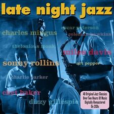 2 CD BOX LATE NIGHT JAZZ MINGUS MONK ROLLINS GILLESPIE PARKER BAKER PEPPER ETC