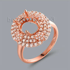 Diamond Ring Oval Cut 7X9 mm Solid 14K Rose Gold Engagement Wedding Natural