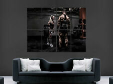 GYM POSTER FITNESS HEAVY WEIGHTLIFTING MUSCLES  SPORT ART WALL LARGE IMAGE