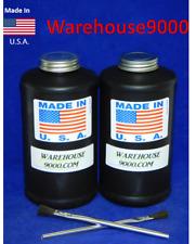 2- New Quart Bottles For Applying Undercoating - Oil Coating - With Pro Gun
