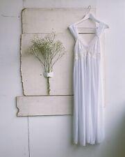 vintage white chiffon slip dress