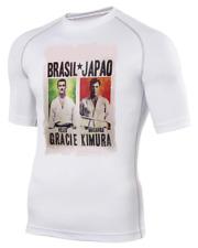 Helio Gracie Kimura Poster- Men's Base Layer Rash Guard BJJ MMA Tshirt