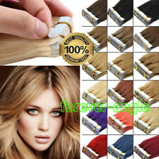 Seamless Tape In Remy Human Hair Extensions Invisible Skin Weft Brazilian Hair