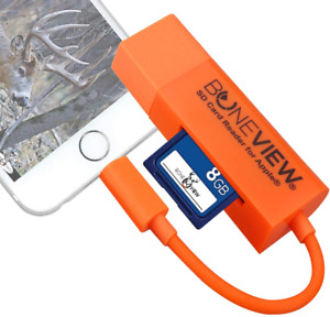Trail Camera Viewer for IPhone Corded SD Memory Card Reader Plays Video & Photo