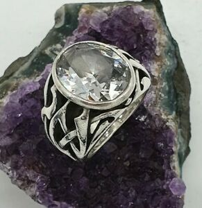 Soul Fetish Ring - Clear Stone, Silver 925 Thierry Martino, Size P 1/2