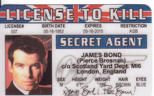 Pierce Brosnan James Bond novelty plastic collector card Drivers License to kill