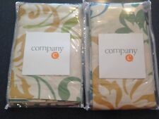 Brand New in Package-Company C Swirling Leaves, Pair of King Shams-Willow