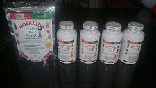 4 Nopalina Flax Seed Plus 120 capsules + 2 Bolsas de 4 Oz gratis