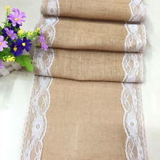 Hessian Natural Burlap Jute Table Runner Fabric for Vintage Wedding 30*275cm 000