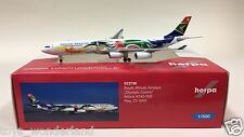 """Herpa Wings South African Airways """"Olympic Colors"""" A340-300 1:500 ZS-SXD 523738"""