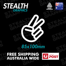 2x PEACE SIGN CHOPPED Car Vinyl Decal Sticker Waterproof High Quality Funny JDM