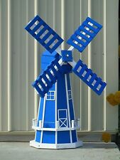 "46"" Poly Dutch Windmill  (Blue with WhiteTrim)"