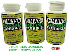 X3 GARCINIA CAMBOGIA - STRONGEST LEGAL SLIMMING / DIET & WEIGHT LOSS DETOX PILLS