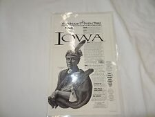 1992 YEAR OF THE INDIAN OKLAHOMA NATIVE TRIBES POSTER **IOWA TRIBE*