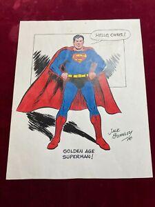 Superman 11x 14 Signed Inked Print Auto JACK BURNLEY