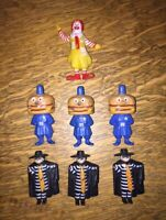1985 McDonalds PVC Figures Hamburglar,  Ronald, Big Mac Vintage