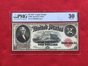 FR-60 1917 Series $2 US Legal Tender Note *PMG 30 Very Fine*