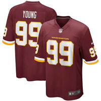 New 2021 Chase Young Washington Football Team Nike Game Player Edition Jersey