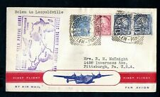 Brazil 1941 Belem to Leopoldville, Congo Pan American First Flight Airmail Cover