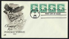 #2112 'D' Eagle-Strip of 4, Art Craft H/C FDC **ANY 4=FREE SHIPPING**