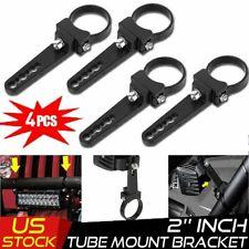 4x 2'' Bull Bar Roll Cage Tube Mount Bracket Clamp LED Light Bar Offroad ATV UTV