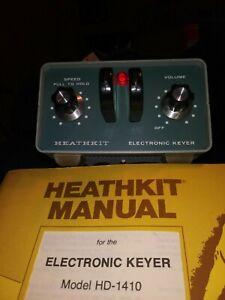 HEATHKIT HD-1410 VINTAGE Electronic Keyer CW Ham Radio Morse Code QRP W/ Manual