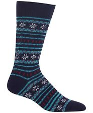 $40 HOT SOX Men's 1-PAIR BLUE NAVY ACRYLIC CASUAL CREW BOOT SOCKS SHOE SIZE 6-12
