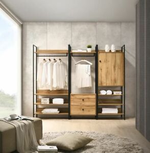 Zahra Open Plan Storage Wardrobe Solution 4 Finishes PROMOTION