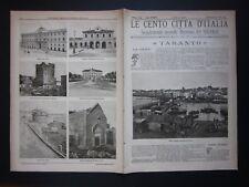 1899 TARANTO Le Cento Città Italia Sonzogno Editore riccamente illustrate