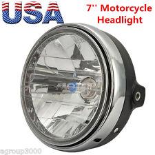 "7"" Universal Motorcycle Headlight Fit Honda CB400 CB500 1300 Hornet 250 600"