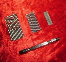New 1PC Double Ended Pin Vice & 30Pc Micro Drills Model & Jewellery Repair Tools