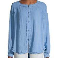 FREE PEOPLE MOVING MOUNTAINS BUTTON DOWN BLOUSE TOP NWT$98 M