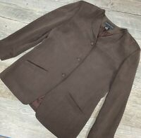 August Silk, Women's Blazer Jacket Brown. Pockets. Long Sleeve. Size 12/42