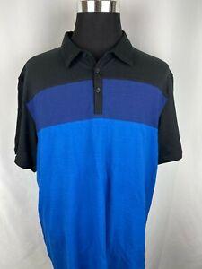 Calvin Klein Polo Black/Purple/Blue Stripe Men's Size XXL