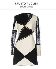 538ce53006 NWT - FAUSTO PUGLISI Patchwork Lace Dress - Size 38