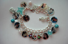 Michael Jackson M J Memorial new Photo charm bracelet. special memory  gift