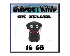 16GB Dog Puppy Black Novelty Memory Stick USB 2.0 Flash Drive