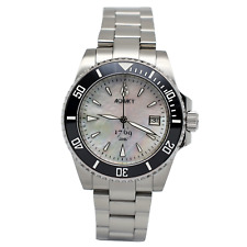Aquacy 1769 Men's Automatic 300M White Mother of Pearl Dive Watch   Miyota 9015