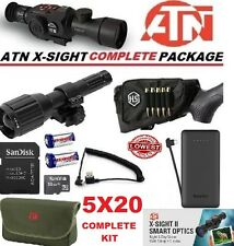 ATN X Sight II 2 HD IR Night Vision 5-20 Rifle Scope Predator Complete Kit