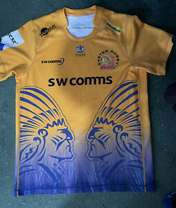 exeter chiefs rugby Euro Jersey XL 46 Chest Rare Find 2020/2021 Season Samurai