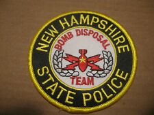 NEW HAMPSHIRE STATE POLICE BOMB SQUAD POLICE PATCH
