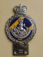 VINTAGE ORIGINAL CAR BADGE J.R.GAUNT.BRITISH SOUTH AFRICAN POLICE CAR CLUB RARE