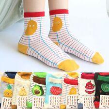 Sports Women Fruit Jacquard Hosiery Ankle Striped Socks Cotton