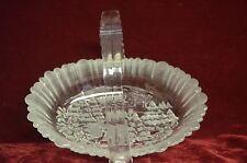 """Glass Christmas basket 9.5"""" x 7.2"""" , a scenic joyful wonderland Very Beautiful"""