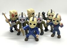 The Loyal Subjects Jason Voorhees Lot Of 7 Metallic Exclusive Rare Bloody