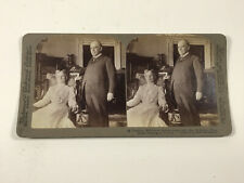 1901 Underwood President McKinley & Wife in White House Stereoscope Card photo