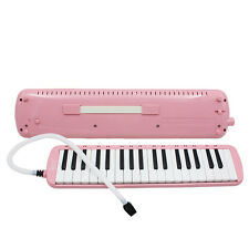 New 37 Key Pink Melodica Pianica Keyboard Mouthpiece Music Instrument + Bag